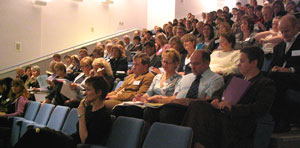 Delegates listening to keynote address at 2007 ESCalate ITE Conference at St Martin's College, Lancaster