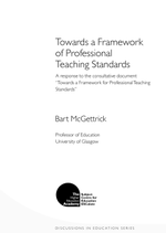 Cover of Towards a Framework of Professional Teaching Standards