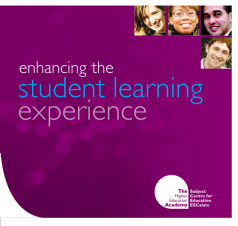 Cover of Enhancing the student learning experience