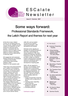 Cover of Newsletter  Issue 8 - Summer 2007