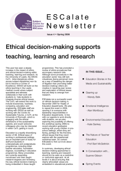 Cover of Newsletter Issue 4 - Spring 2006
