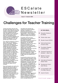 Cover of Newsletter Issue 3 - Autumn 2005