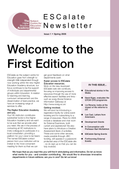 Cover of Newsletter Issue 1 - Spring 2005