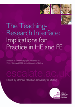 Cover of The Teaching Research Interface: Implications for Practice in HE and FE
