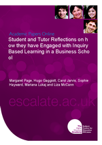 Cover of Student and Tutor Reflections on how they have Engaged with Inquiry Based Learning in a Business School