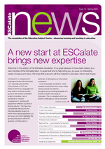 Cover of A new start at ESCalate brings new expertise