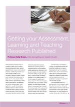 Cover of Getting your assessment, learning and teaching research published