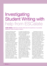 Cover of Investigating student writing with help from ESCalate