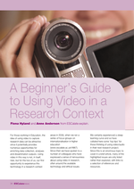 Cover of A beginner's guide to using video in a research context
