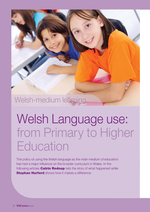 Cover of Welsh Language use: from Primary to Higher Education