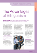Cover of The advantages of Bilingualism