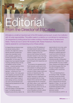 Cover of Editorial for ESCalate News No.15