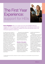 Cover of The First Year Experience: support for HEIs