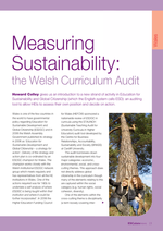 Cover of Measuring Sustainability: the Welsh Curriculum Audit
