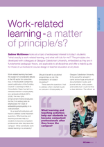 Cover of Work-related Learning: a matter of principle/s?