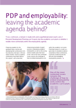 Cover of PDP and employability: leaving the academic agenda behind?