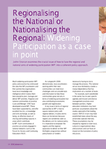 Cover of Regionalising the national or nationalising the regional: Widening Participation as a case in point