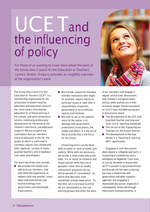 Cover of UCET and the influencing of policy