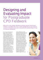 Cover of Designing and evaluating impact for postgraduate CPD fieldwork