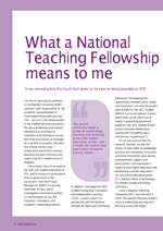 Cover of What a National Teaching Fellowship means to me
