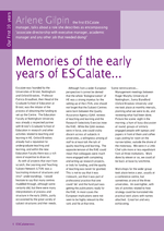 Cover of Memories of the early years of ESCalate ...