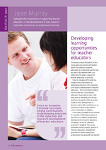 Cover of Developing learning opportunities for teacher educators