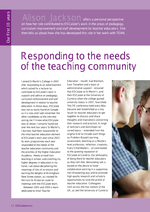 Cover of Responding to the needs of the teaching community