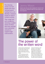 Cover of The power of the written word
