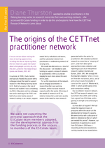 Cover of The origins of the CETTnet practitioner network