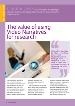 Cover of The value of using Video Narratives for research