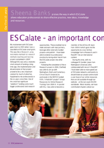 Cover of ESCalate - an important commmunity of practice
