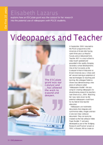 Cover of Videopapers and Teacher Education