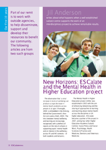 Cover of New Horizons: ESCalate and the Mental Health in Higher Education project