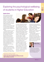 Cover of Exploring the psychological wellbeing of students in Higher Education