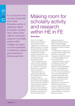 Cover of Making room for scholarly activity and research within HE in FE