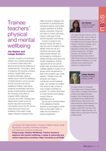 Cover of Trainee teachers' physical and mental wellbeing