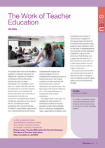 Cover of The Work of Teacher Education