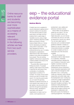 Cover of eep - the eduactional evidence portal