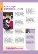 Cover of E-Learning in professional contexts