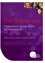 Cover of The Doctorate: international stories of the UK experience