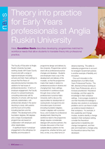 Cover of Theory into practice for Early Years professionals at Anglia Ruskin University