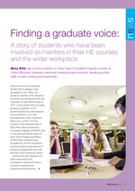 Cover of Finding a graduate voice: A story of students who have been involved as mentors in their HE courses and the wider workplace