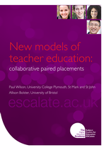 Cover of New models of Teacher Education: Collaborative paired placements
